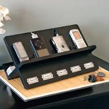 Desk With Charging Station Ledger Electronic Holder Cell Phone Charging Station Family