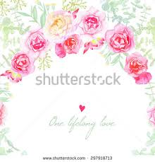 Shabby Chic Website Templates by Wedding Flowers Vector Card Invitation Template Stock Vector
