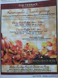 thanksgiving on 2012 aloha luxury properties