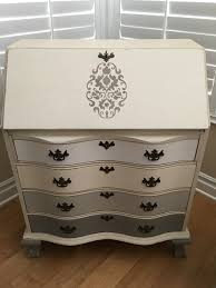 Chalk Paint Furniture Images by Antique Secretary Desk Painted With Annie Sloan Chalk Paint