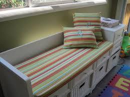 Bjursta Bench Cushion Play Room Bench Cushion Grey Bench Pad White Storage Bench Wall