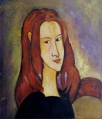 modigliani woman with a fan hand painted oil painting repro amedeo modigliani portrait of jeanne
