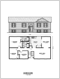 Split Ranch House Plans by Raised Ranch Floor Plans Trimble For Design Decorating