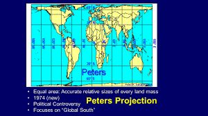 Peters Projection Map All Maps Distort U2026 Distance Or Direction Or Shape Or Ppt Download