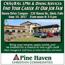Resume For A Job Fair by Pine Haven Job Fair June 14th U2014 Pine Haven Christian Communities