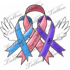 butterfly with thyroid cancer ribbon tattoo photo 3 photo