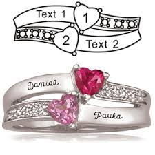 rings with birthstones 10kt white gold enamored promise ring with 2 genuine birthstones