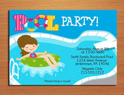 Invitation Cards Printable Pool Party Invitation Cards Printable Diy