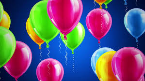 happy birthday balloons colorful birthday balloons are flying up