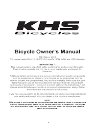 khs owners manual pdf traffic tire