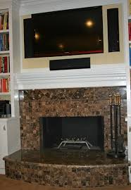 covering brick fireplace with slate tile home design ideas