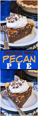 chocolate fudge pecan pie inside brucrew