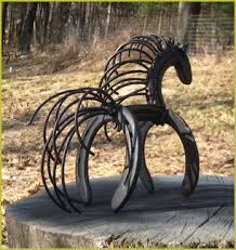 Horseshoe Bench Loosee Art Chainsaw And Metal Sculptures