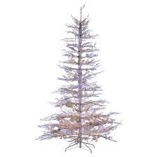 7 5ft pre lit artificial tree flocked pine white