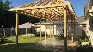 How To Build A Detached Patio Cover by Covered Patio Build Youtube