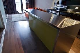 stainless steel kitchen island ikea ikea island with custom thermofoil doors and stainless steel