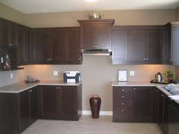 kitchen wall colors with brown cabinets window treatments
