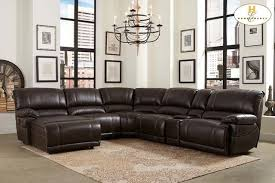 leather sectional sofa chaise recliner video and photos