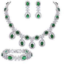 silver earrings bracelet set images Sale online ever faith silver tone cz floral leaves water drop jpg