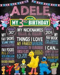birthday chalkboard abby cadabby sesame birthday chalkboard rawsome designs