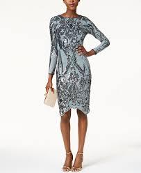 betsy u0026 adam sequined bodycon dress dresses women macy u0027s