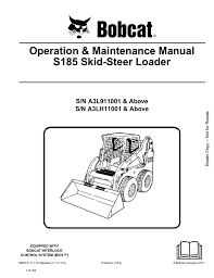 operation u0026 maintenance manual s185 skid