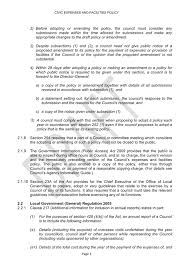 Sle Travel Expense Policy by Agenda Of Ordinary Meeting 25 May 2016