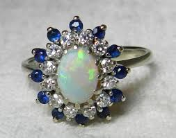 black opal engagement rings opal engagement ring 14k opal sapphire ring deco black