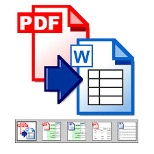 Pdf To Word Extract Tables From Pdf To Word Pdf Documents To Word Pdf Converter