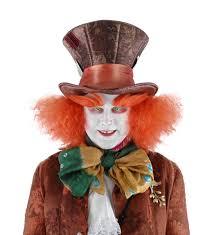 alice wonderland halloween costumes alice in wonderland mad hatter costume eyebrows walmart com