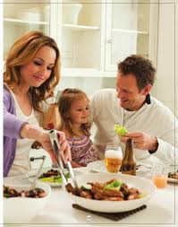 giada serving dinner to her husband todd and daughter jade giada