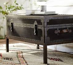 Trunk Bedside Table by Ludlow Trunk Coffee Table Pottery Barn