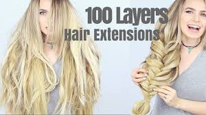 layered extensions 100 layers of hair extensions