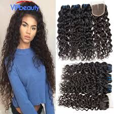 photos of wet and wavy hair vip beauty hair brazilian wet and wavy hair with closure 4pcs