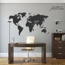 com chalkboard world map vinyl wall decal wall decor stickers amazon com chalkboard world map vinyl wall decal wall decor stickers