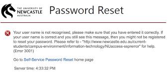 http www current password reset error clarification information technology it