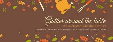 illustrated thanksgiving cover photo templates by canva
