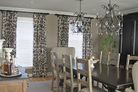 curtains for dining room ideas dining room artistic curtains pattern for a gray dining room