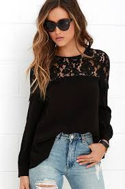 sleeve lace blouse lace top black blouse sleeve top 48 00