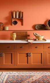 white kitchen cabinets orange walls 25 cheerful and bold orange kitchen decor ideas shelterness