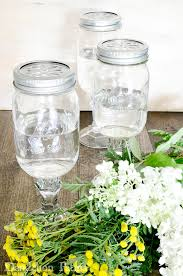 Mason Jar Vases How To Make Mason Jar Pedestal Vases Dandelion Patina