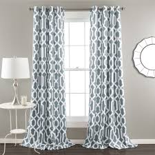 Gray Blue Curtains Designs Lush Decor Edward Moroccan Pattern Blackout Curtain Panel Pair 84
