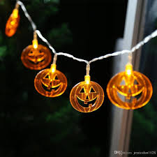 pumpkin string lights 20 leds halloween pathway lights for