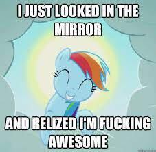 Fucking Awesome Meme - i just looked in the mirror and relized i m fucking awesome good