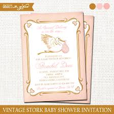 stork baby shower vintage stork baby shower invitation printable giggles and