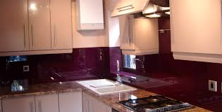 Kitchen Ideas With Cream Cabinets Simple Purple Kitchen Idea With Cream Cabinet And Granite