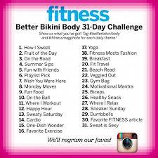 Challenge Instagram Instagram Betterbikinibody 31 Day Challenge Fitness Magazine