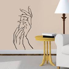 popular nail beauty shop buy cheap nail beauty shop lots from 3d girl nail art hands beauty shop business elegant finger vinyl wall sticker for living room