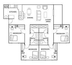 4 bedroom deluxe floor plan sq murfreesboro rutherford