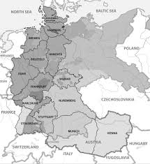 Map Of West Germany by West German Mission Religious Studies Center